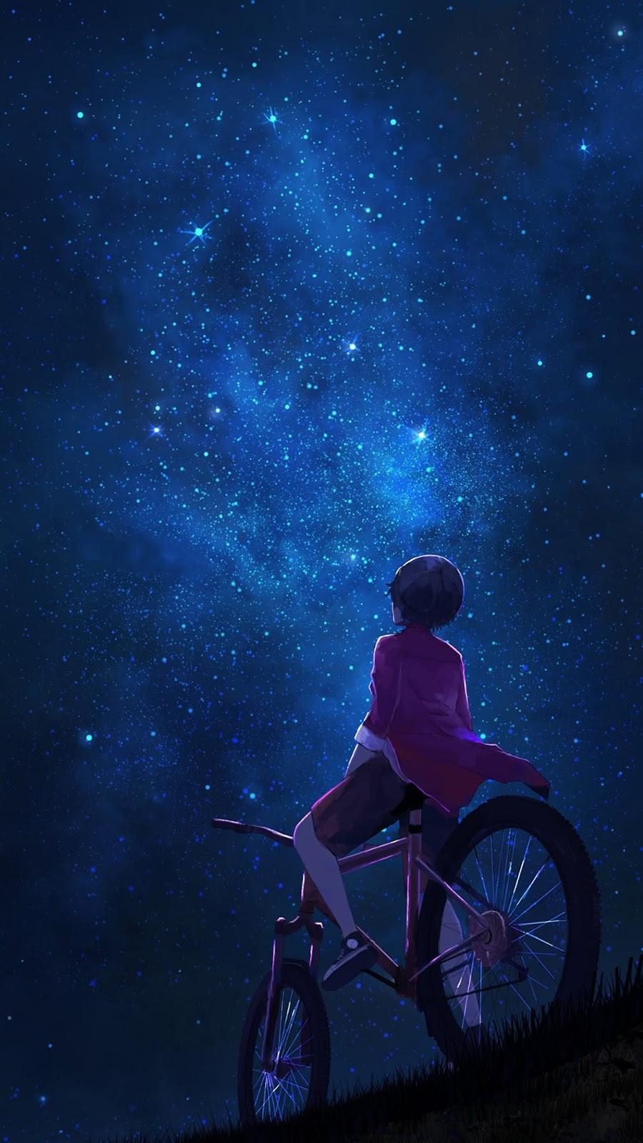 Watching the starry night