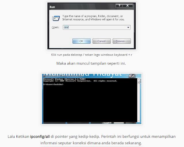 Cara ambil Bandwith Wifi Melalu CMD di windows 7