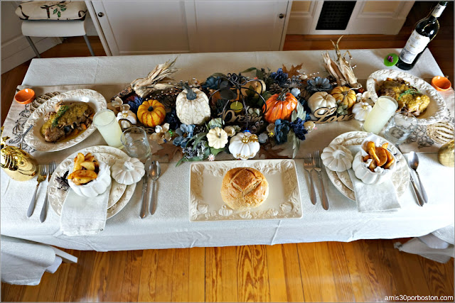 Nuestra Cena de Acción de Gracias en Boston