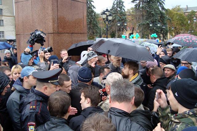 Митинг сторонников Навального в Самаре 7.10.17