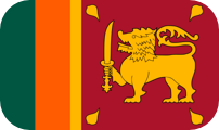 Rounded flag of Sri Lanka