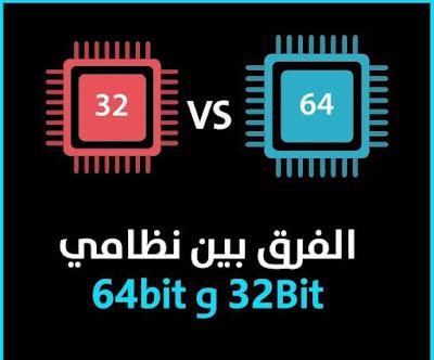 ما الفرق بين نظامي 32Bit و 64bit