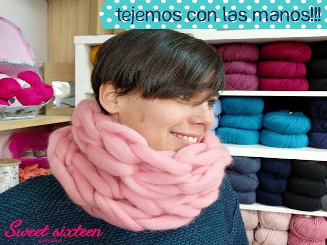 Taller monográfico tejer con las manos lana XXL Alcalá de Henares