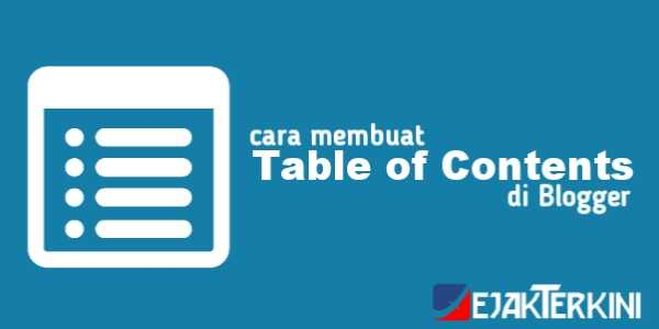 table of content blogger
