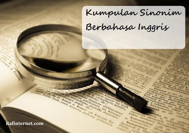 ss of kumpulan sinonim berbahasa inggris