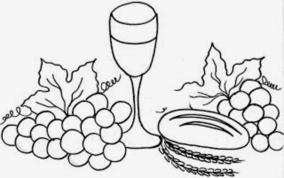 artes da nil riscos e rabiscos calice uvas e pão simbolos