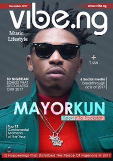 DMW Soldier, MayorKun covers the December 2017 issue of Vibe.ng Magazine