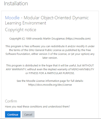 installation confirm moodle 3.9