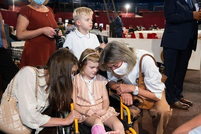 Princess Caroline of Hanover, Charlotte Casiraghi Rassam, Princess Gabriella and Prince Jacques. Chloe playsuit