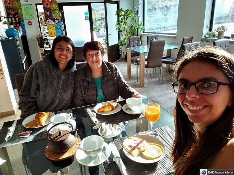 café da manhã no hotel Infusion de Óbidos, Portugal