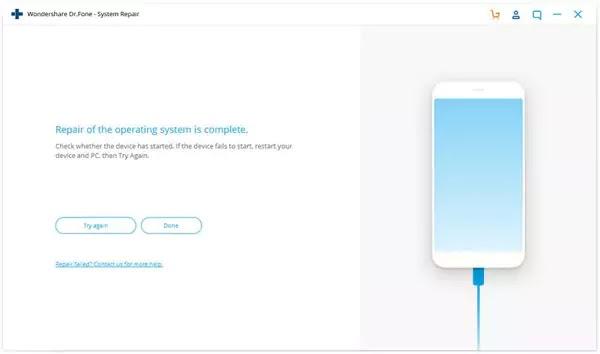 إصلاح نظام Wondershare Dr.Fone iOS