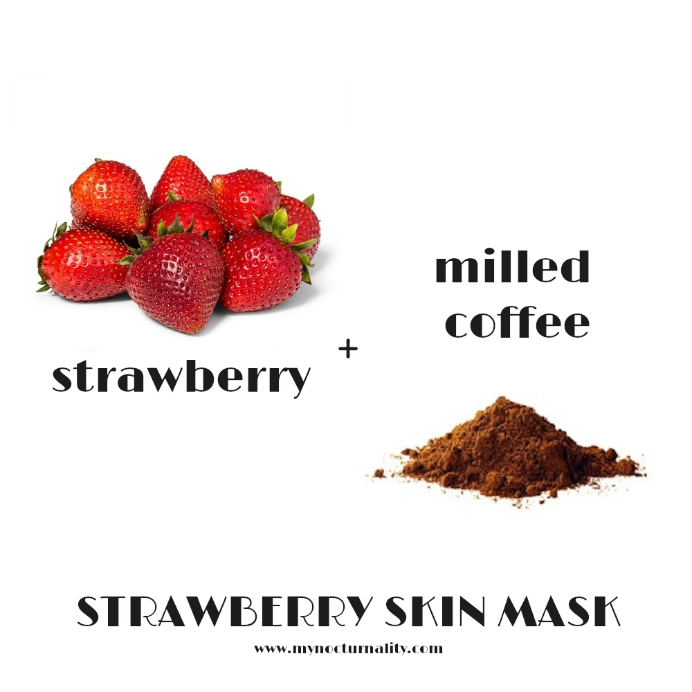 diy strawberry face mask and milled coffee