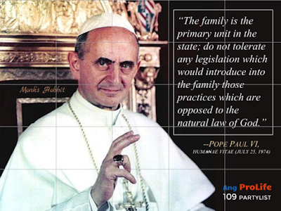 Pope Paul VI on the family and natural law