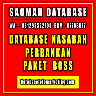 Jual Database Nasabah Perbankan - Paket Boss