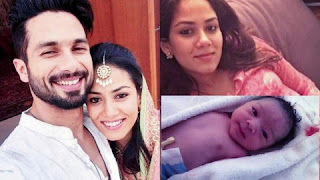 Shahid Kapoor with Mira and his new born daughter