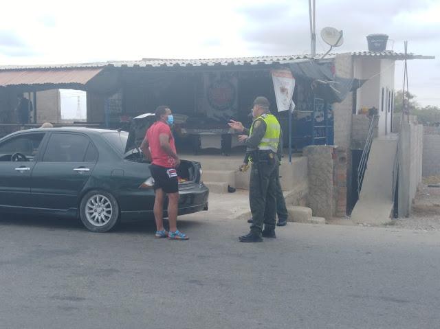 Mil 582 personas pilladas por la Policía en La Guajira violando el Aislamiento Obligatorio