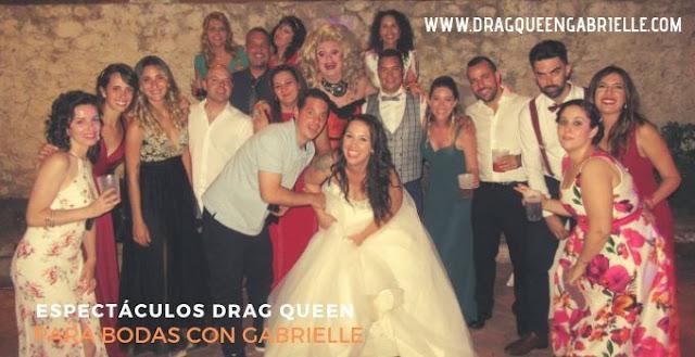 Show drag queen para bodas con encanto en Madrid con Drag Gabrielle.
