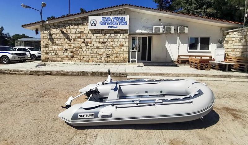 Δωρεά φουσκωτής βάρκας στο Τμήμα Συνοριακής Φύλαξης Ορεστιάδας