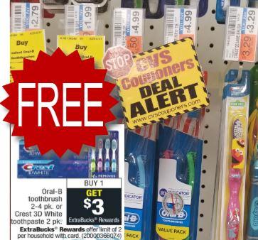free toothbrush at cvs