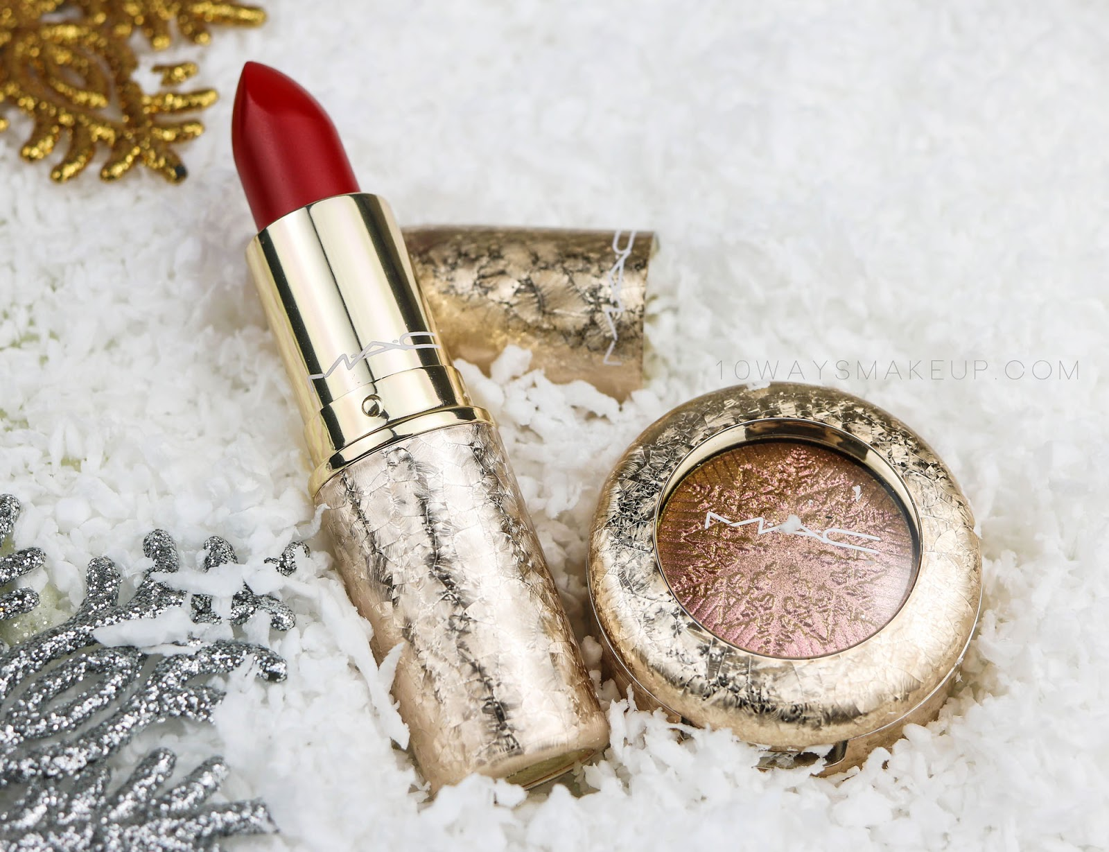 Mac Snowball Rouge en Snow Stylishly Merry swatch