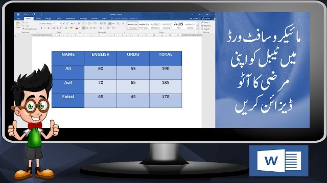 HOW TO DESIGN TABLE IN MS WORD