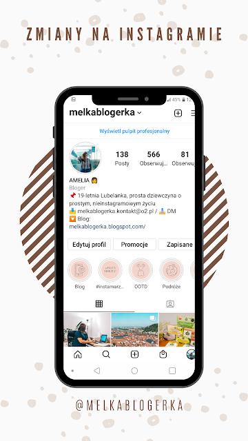 Zmiany na Instagramowym profilu
