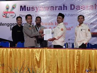 Pengesahan Hasil Musyda oleh Ketua Panlih