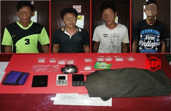 Empat Budak Sabu Diciduk Polisi di Desa Lungkuh Layang