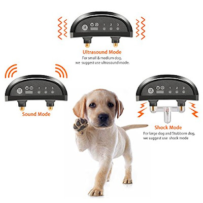 PopView Anti-Bark Dog Collar: Wireless Battery-Powered Shock Device