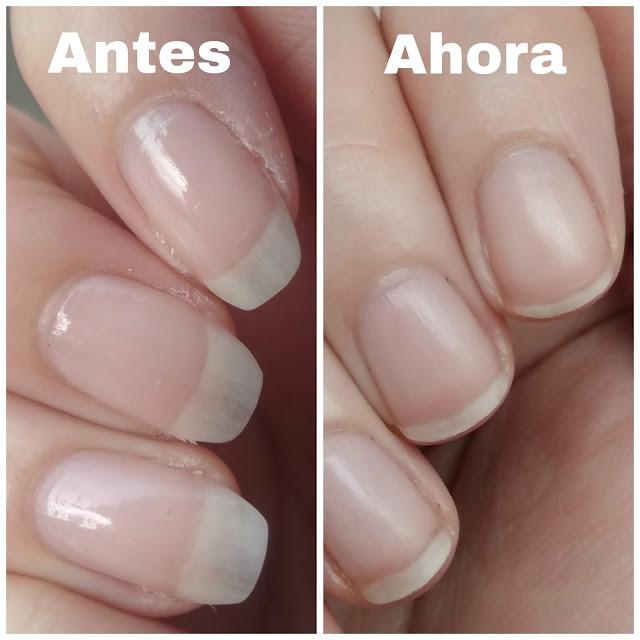 antes y despues de usar el balsamo ecologico de mano y uñas de Marnys