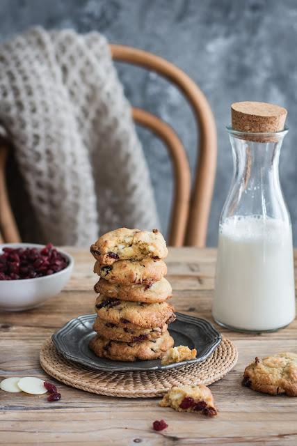 Cookies au chocolat blanc et cranberries