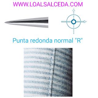 Aguja schmetz de punta redonda normal R