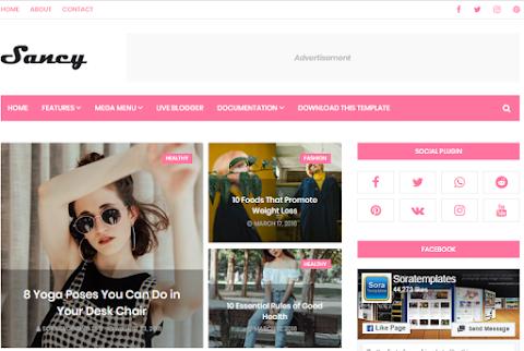 Sancy blogger Template Free Download | Sancy Blogger theme Download