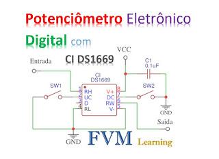 Potenciômetro Eletrônico Digital com CI DS1669