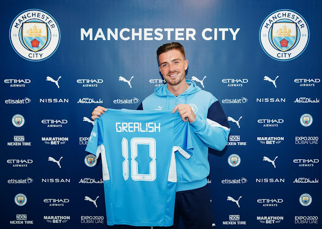 Manchester City announce the signing of Jack Grealish from Aston Villa