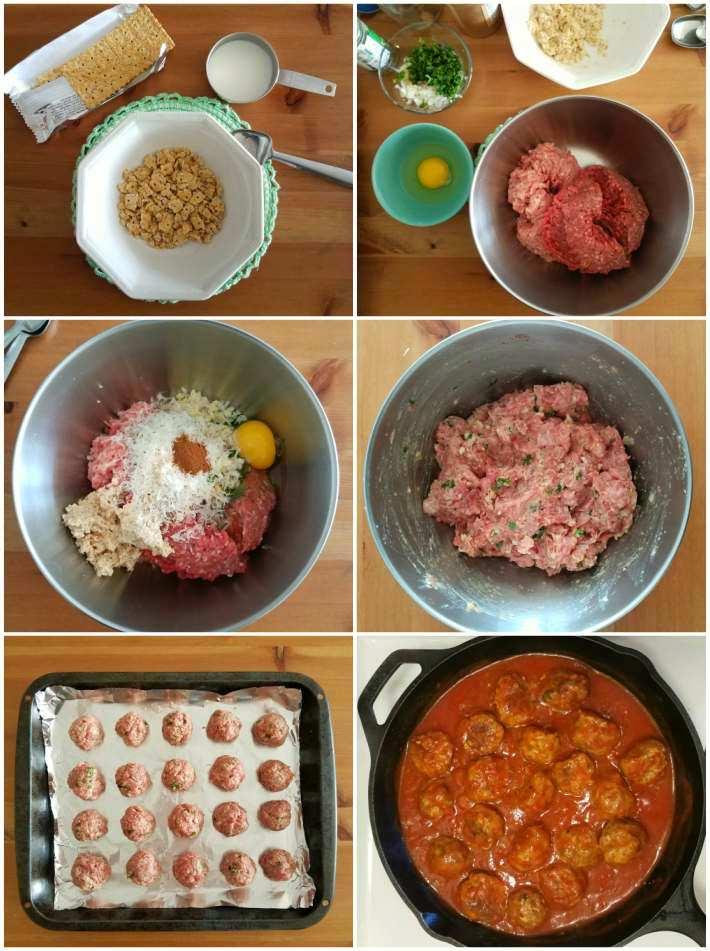 Paso a paso para preparar albóndigas a la italiana
