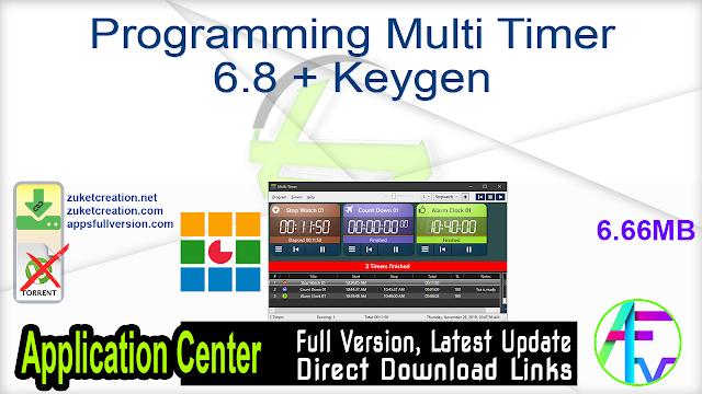 Programming Multi Timer 6.8 + Keygen