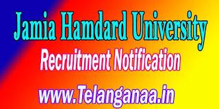 Jamia Hamdard University Recruitment Notification 2016 jamiahamdard.edu