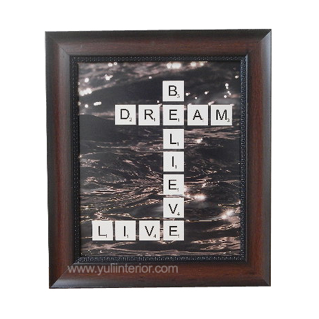 Believe, Dream, Live Scrabble Letters Wall Frame, Nigeria