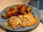 Филе от сьомгова пастърва с бадеми * Trota salmonata alle mandorle