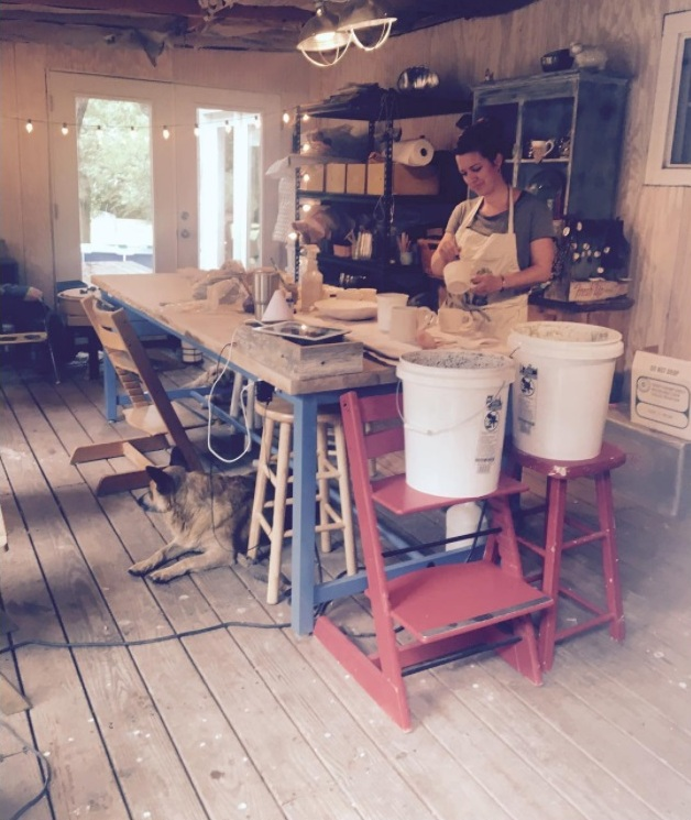 Behind the scenes at Turtle Lane Pottery | Land of Honey