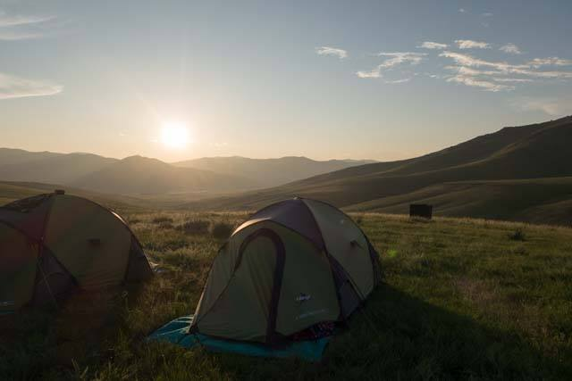An Eternal Landscapes campsite along the Orkhon River Valley