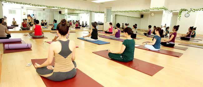Phòng tập yoga hiện đại tại chung cư Golden Palm