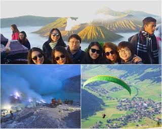 Mount Bromo, Blue Flame Ijen Crater, Paragliding Tour 4 Days