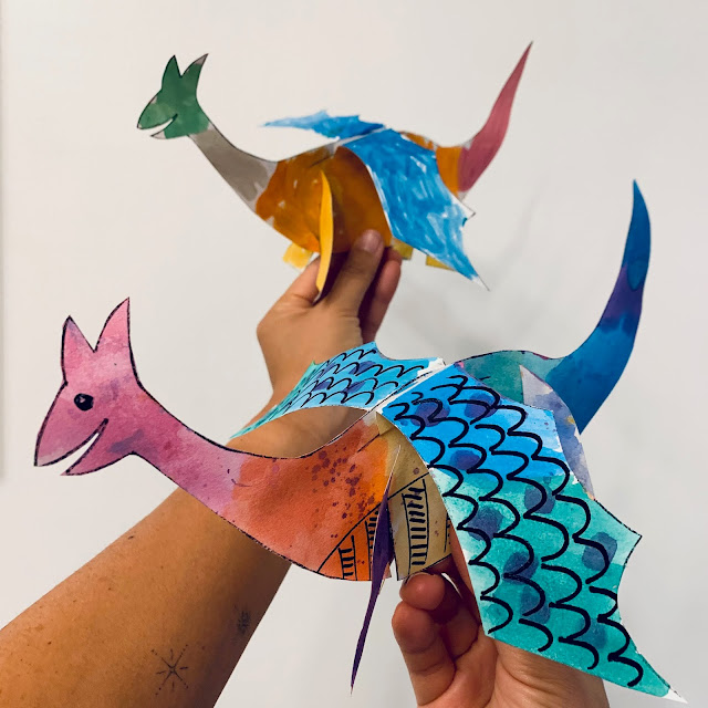 How to Make Paper Dragons (Easy Free Printable Model included)