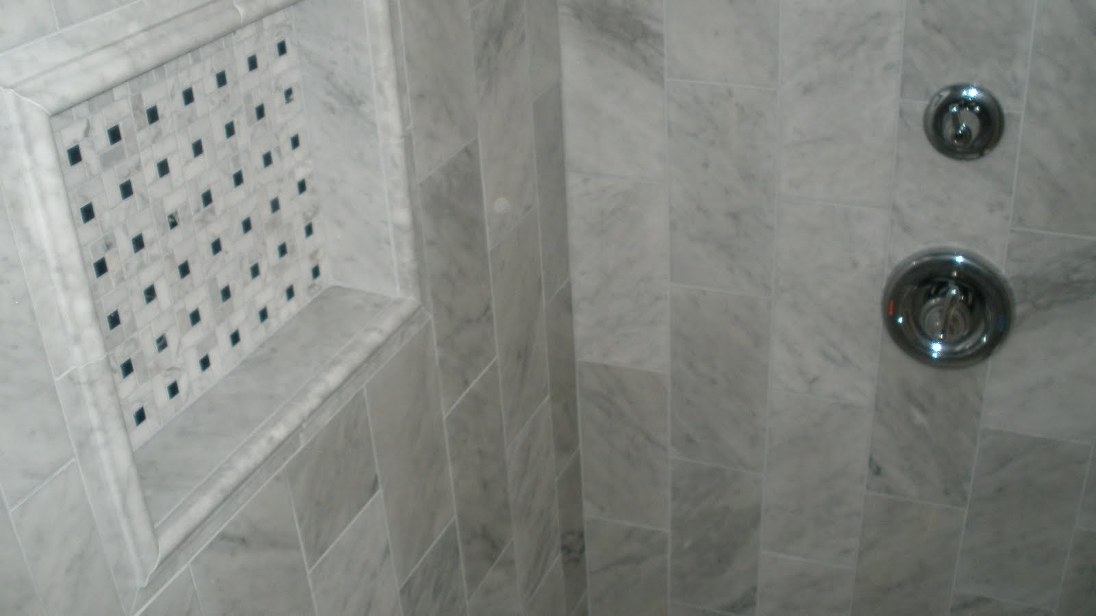 Marble Shower With Bench Curb