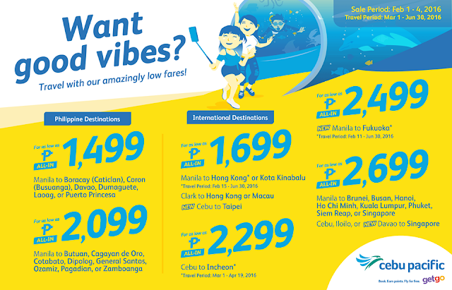 Cebu Pacific Seat Sale 2016