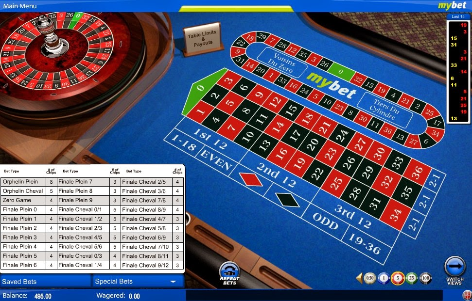 Mybet Roulette Screen