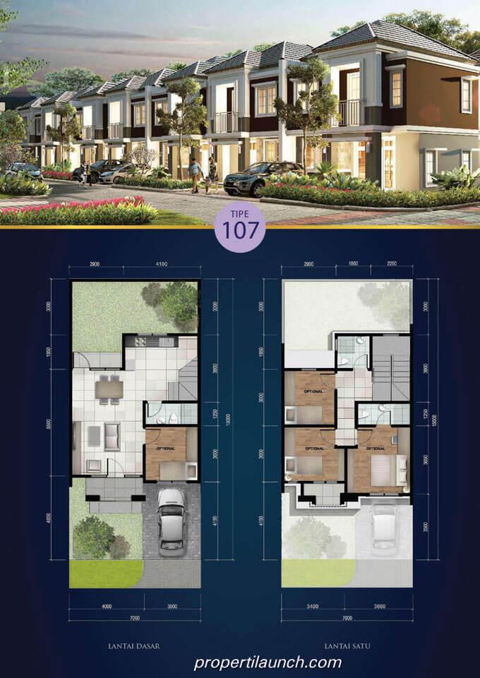Rumah Tevana Savia BSD Tipe 107