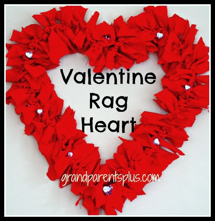 Valentine Rag Heart Wreath